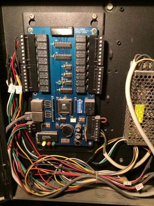 电梯话机接线图片